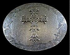 METAL WESTERN IRISH CELTIC CRUZADE CROSS RELIGION BELT BUCKLE BOUCLE DE CEINTURE