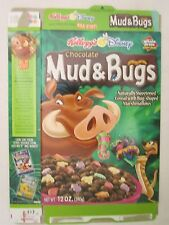 Kelloggs Cereal Box 2002 MUD & BUGS 12 oz Timon & Pumba