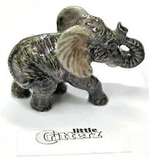 "Little Critterz Miniature Porcelain Animal African Elephant Calf ""Savanna"" LC409"
