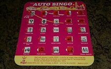 Vintage 1997 Auto Bingo Regal Games Board Travel Vacation Road Trip Boredom Rare