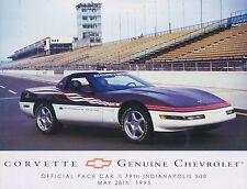 1995 CHEVROLET CORVETTE (PACE CAR) DATENBLATT LEAFLET SHEET ENGLISCH (USA)