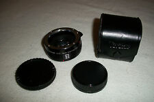 VIVITAR MC Tele Converter Lens 2x-22 w/Caps/Case for Pentax K Mount SLR