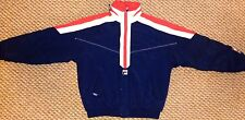 Mens Vintage FILA Padded Red White Blue Hooded Ski Inspired Coat UK Large Xmas