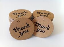 """ON SALE! 100PCS """"thank you"""" DIY Kraft Brown Gift Paper Tags + Free Twines"""