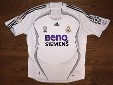 Men's XL adidas 2006-07 Real Madrid Ruud van Nistelrooy #17 Home Soccer Jersey