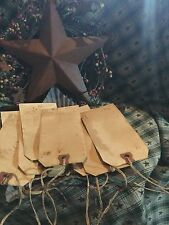 Grubby Grungy BLANK HANG TAGS Lot  15 LARGE w/Strings Primitive Handmade