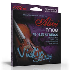 Alice CELLO STRINGS quality set 4/4 3/4 C G D A nickel wound full size UK SELLER