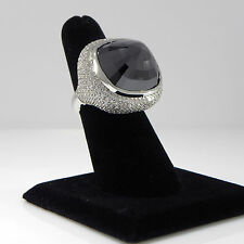 53.56ct Black diamond Right hand ring 4ct white diamonds in 18K gold