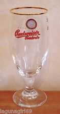 Budweiser Budvar Czech Lager Beer Stemmed Half Pint Glass Pub Bar Unused M12