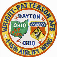 USAF BSE PATCH, WRIGHT-PATTERSON AFB, DAYTON OHIO, 445TH AIRLIFT WING