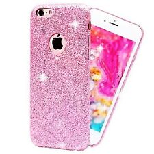 Coque Silicone Semi Rigide Brillant Strass Bling Bling Rose pour Iphone 6 6S
