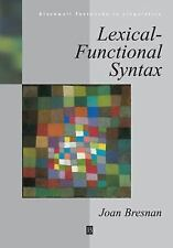 Lexical-Functional Syntax (Blackwell Textbooks in Linguistics)