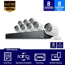 SDH-B74081 - Samsung 8 Channel 1080p HD 2TB Security System with 8 Cameras