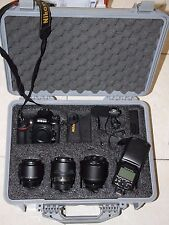 Nikon D810 Digital SLR  W/ NIKKOR 35mm 50mm  85mm  SB-910 ME-1 Pelican case more