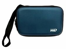 "HDD 2.5"" Carrying Case Cover Pouch Bag for External Hard Disk WD Seagate - Blue"