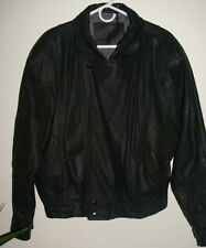"mens leather jacket/coat  black large free fall 22"" wide 24"" long"