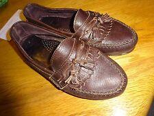 """Dexter brown women's fringed & Tassle  leather loafer US size 8M 1/2"""" Heel L@@K"""