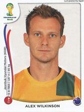 N°172x ALEX WILKINSON # AUSTRALIA STICKER TRANSFERT PANINI WORLD CUP BRAZIL 2014
