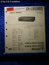 Sony Service Manual XR C900RDS Cassette Car Stereo (#3628)