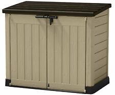 Keter XL Plastic Storage Box Garden Shed Bike Tools Wheelie Bins Patio Furniture