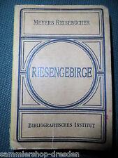 19483 Meyers Reisebücher Riesengebirge und die Grafschaft Glatz 1921 kpl 19,A