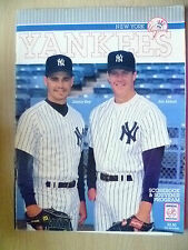1993 NEW YORK YANKEES Scorebook & Souvenir Programme;Jimmy Key & Jim Abbott