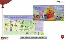 "Disney Winnie the Pooh Room Make over kit 50 stickers 8-75cm 3""-30"" Kids BNIB"