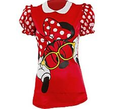 Disney Minnie Mouse Adult Puffy Sleeve Shirt One Size