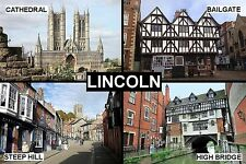 SOUVENIR FRIDGE MAGNET of LINCOLN ENGLAND