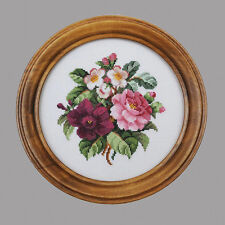 CROSS STITCH EMBROIDERY E-PATTERN. BOUQUET WITH CAMELLIAS.