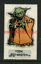 Vintage Star Wars Yoda Jedi Master 1983 ROTJ Vending Machine Sticker