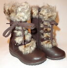 Girls Winter Snow Boots Size 8 Dark Brown Kids Shoes New Free Ship @ Cargo Bay