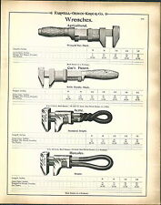 1900 AD Tool Wrench Coe's Hercules Baxter S Always Ready Alligator Bemis & Call