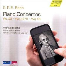 C.P.E. Bach: Piano Concertos: Wq. 22, Wq. 43/5, Wq. 46 (CD, Feb-2014,...