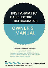 VINTAGE 1966 INSTAMATIC RV-7 REFRIGERATOR OPS / INSTALL MANUAL - PDF DOWNLOAD