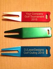 Qty 100 - Personalized Anodized Aluminum Golf Divot - Engraved