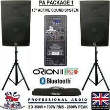 "Active PA system 15"" Bluetooth 5 band EQ con STAND/BORSA DJ Band 2800w su ruote"