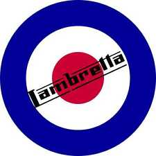 Scooter Decal Lambretta British Roundel Vinyl Stickers Decals  Mod Culture x 2