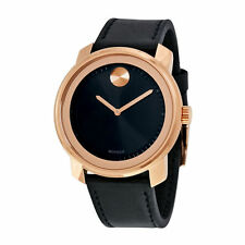 Movado Men's 3600376 Bold Black Museum Black Leather Watch