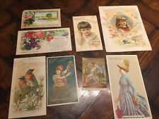 Antique Victorian TRADE CARD Collection * chocolate perfume fashion drugs piano
