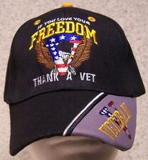 Embroidered Baseball Cap Military Love  Freedom? Thank a Vet NEW 1 size fits all