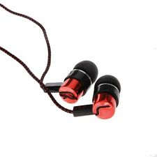 Red New ABS MP3/mp4 Roping Stereo 3.5mm Subwoofer In Ear Headphone Earbud Hot