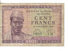 FRENCH GUINEA, 100 FRANCS, 1958