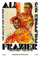 Muhammad Ali vs Joe Frazier LARGE POSTER 1975 Heavyweight Boxing THRILLA MANILLA