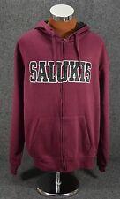 SIU SOUTHERN ILLINOIS UNIVERSITY Salukis Maroon Hoodie Sweatshirt • SIZE XL