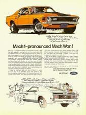 1970 FORD MUSTANG MACH 1 A3 POSTER AD ADVERT ADVERTISEMENT SALES BROCHURE MINT