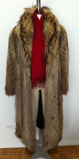 GENUINE RACOON FINNISH/TANUKI FULL LENGTH FUR COAT FROM MACY'S FITS LADIES 8-14