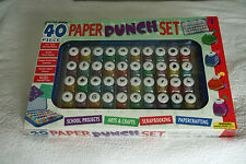 40 Piece Paper Punch Set made by Cutting Edge  New and unopened