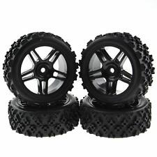 4pcs Black RC 1/16 Off-Road 1:10 On Road Tires Crossing Rubber Wheels Hex 12mm