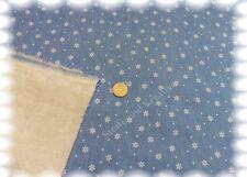 Jeans teddy denim coton bleu clair 50 cm teddyfuttter DOUBLEFACE polaire